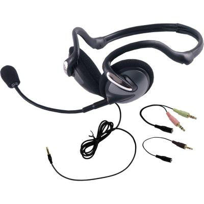 VoIP All-In-One Foldable Headset - Black