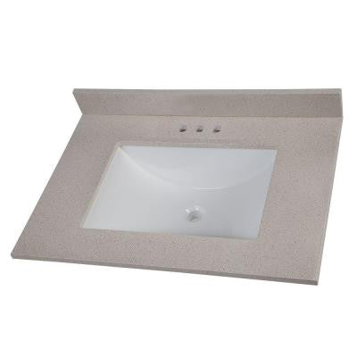 31 in. Colorpoint Vanity Top in Maui with White Basin