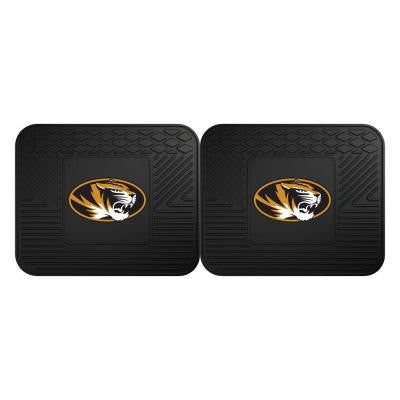 NCAA University of Missouri Black Heavy Duty 2-Piece 14 in. x 17 in. Vinyl Utility Mat