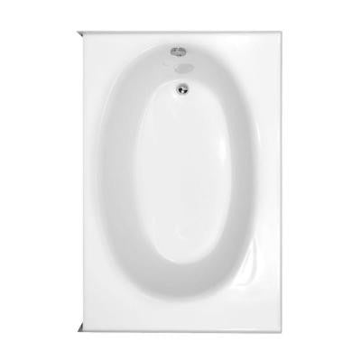 Kona 5 ft. Left Drain Bathtub in White