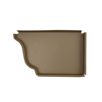 6 in. Natural Clay Aluminum Right End Cap