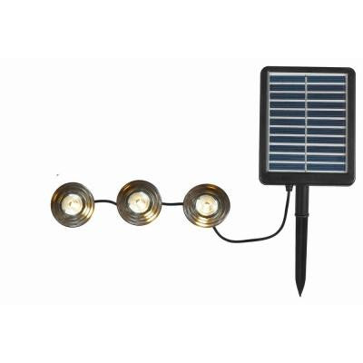 3-Light Black Solar Deck/Path String Panel