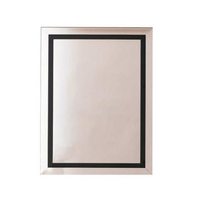 22 in. W x 30 in. H x 5 in. D Surface-Mount Mirrored Medicine Cabinet in Black