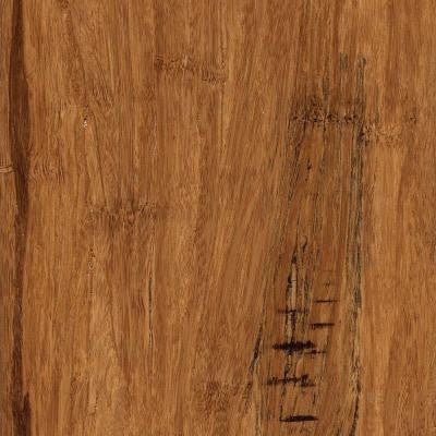 Hand Scraped Distressed Strand Woven Hazelnut 3/8 in. x 5-1/8 in. x 36 in. Click Lock Bamboo Flooring (25.625 sqft/case)