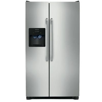 22.07 cu. ft. Side by Side Refrigerator in Stainless Steel