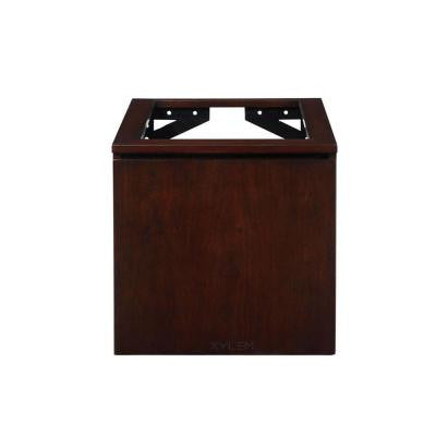 Blox 20 in. W x 21-1/2 in. D x 20 in. H Vanity Cabinet Only with Wood Front Drawer in Dark Walnut