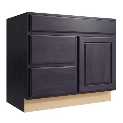 Salvo 36 in. W x 31 in. H Vanity Cabinet Only in Ebon Smoke