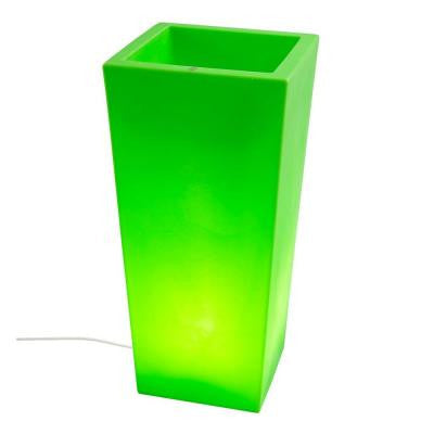 Twist Production 32 in. Apple Green Outdoor Lighted Planter