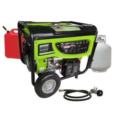 5200-Continuous Watts, 120/240-Volt, Propane (LPG) or Gas Powered Generator