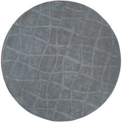Candice Olson Gray 8 ft. Round Area Rug