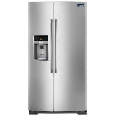 20.6 cu. ft. Side by Side Refrigerator in Monochromatic Stainless Steel, Counter Depth