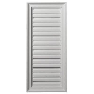 2 in. x 16 in. x 36 in. Functional Vertical Gable Louver Vent