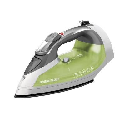 Xpress Steam Cord Reel Iron Non Stick in Green/White