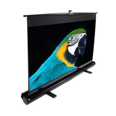 exCinema Series 80 in. Diagonal Portable Projection Screen with Floor Pull Up