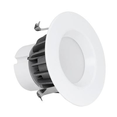 4 in. 3000K White Recessed LED Retrofit Trim (4-Pack)