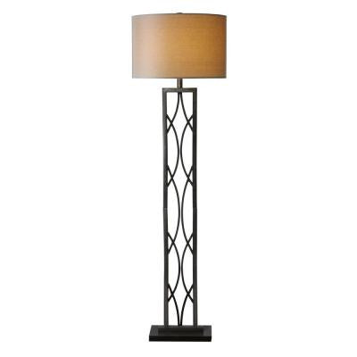 Swoop 60 in. Oil Rubbed Bronze Round Floor Lamp