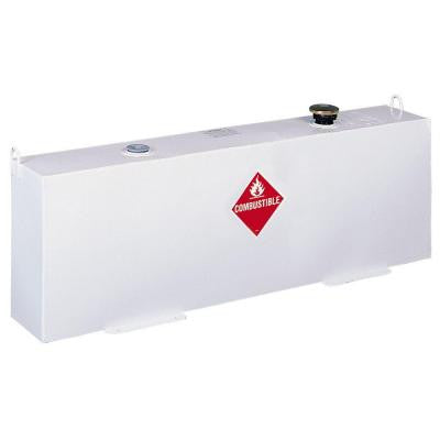 Delta Vertical Steel Liquid Transfer Tank in White