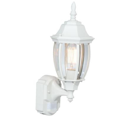Alexandria 180° Outdoor White Motion-Sensing Decorative Lamp