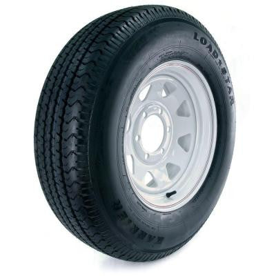 Karrier Radial 225/75R-15 Load Range D 6-Hole Custom Spoke Radial Trailer Tire and Wheel Assembly