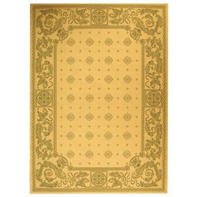 Courtyard Natural/Olive 4 ft. x 5 ft. 7 in. Indoor/Outdoor Area Rug