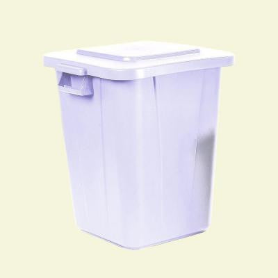 Bronco 40 Gal. White Square Trash Can (4-Pack)