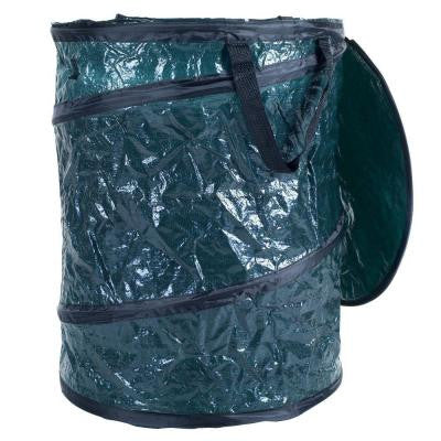 16 gal. Green Collapsible Utility Bin Trash Can with Lid