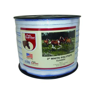 2 in. White Classic Polytape