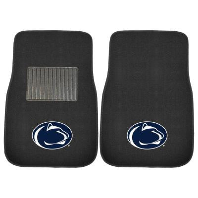 NCAA Penn State 2-Piece 17 in. x 25.5 in. Carpet Embroidered Car Mat
