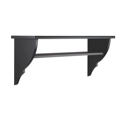 Solutions 16.5 in. H x 40 in. W Silhouette Entryway Decorative Shelf