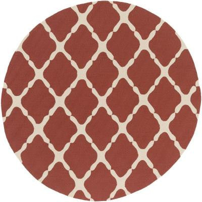 Masis Mocha 8 ft. x 8 ft. Round Indoor/Outdoor Area Rug