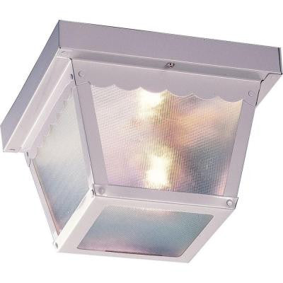 1-Light White Outdoor Ceiling Mount