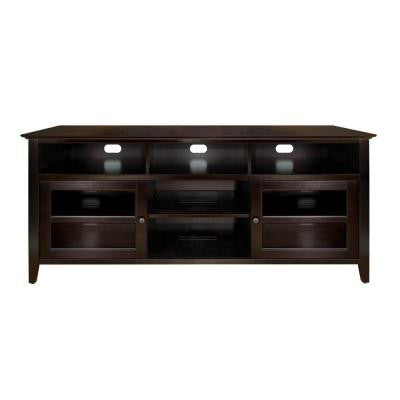 63 in. 4-Shelf Audio/Video Cabinet - Dark Espresso