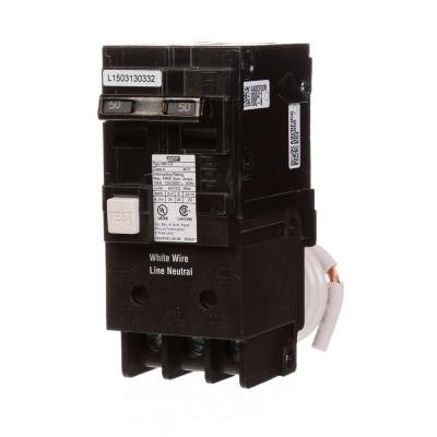 50-Amp Double-Pole Type MP-GT GFCI Circuit Breaker