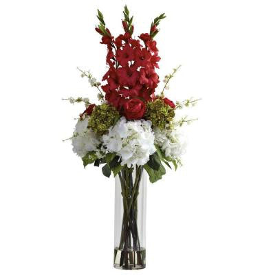 Giant Mixed Floral Arrangement in Red