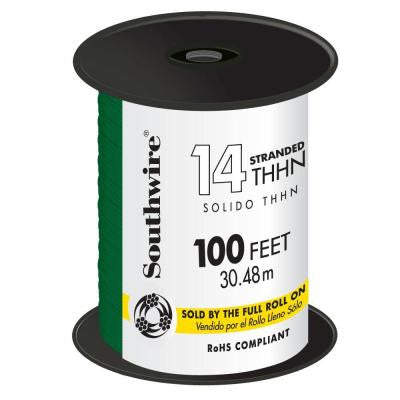 100 ft. 14 Stranded THHN Wire - Green