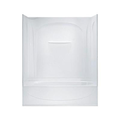 Acclaim 30 in. x 60 in. x 74-1/4 in. Bath and Shower Kit in White