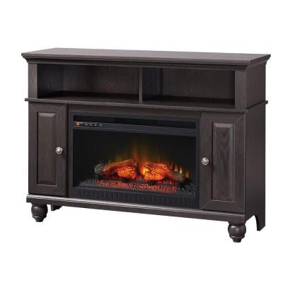 Ashurst 46 in. Media Console Infrared Electric Fireplace in Anthracite Espresso Finish