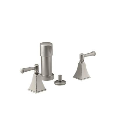 Memoirs 2-Handle Bidet Faucet in Vibrant Hammered Nickel with Stately Design