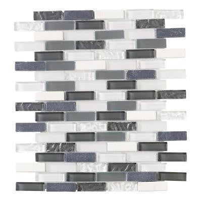Slate Beach 11-5/8 in. x 11-3/4 in. x 6 mm Glass Mosaic Tile