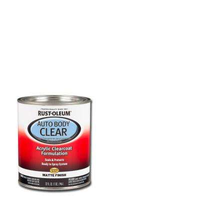 1-qt. Auto Body Acrylic Lacquer Clearcoat Matte Finish Sealer (Case of 2)