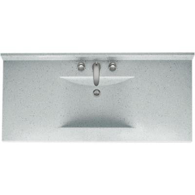 Contour 49 in. Solid-Surface Vanity Top in Tahiti Gray with Tahiti Gray Basin