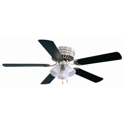 Millbridge 52 in. Satin Nickel Ceiling Hugger Fan