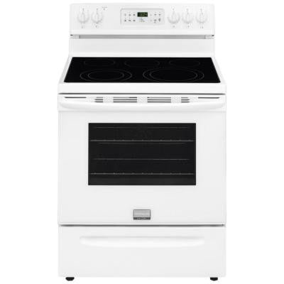 Gallery 30 in. 5.7 cu. ft. Electric Range with Self-Cleaning QuickBake Convection Oven in White