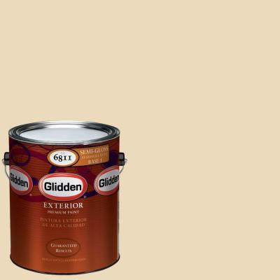 1-gal. #HDGY22 Country Cream Semi-Gloss Latex Exterior Paint