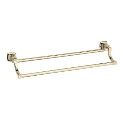 Margaux 24 in. Towel Bar in Vibrant French Gold