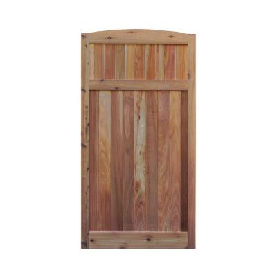 3 ft. W x 6 ft. H Western Red Cedar Arch Top Solid Lattice Fence Gate