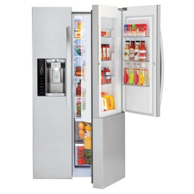 26.1 cu. ft. Side by Side Refrigerator in Stainless Steel with Door-In-Door Design