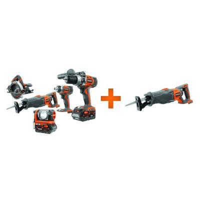 X4 18-Volt Lithium-Ion Cordless Combo Kit with Free Reciprocating Saw Console (5-Piece)