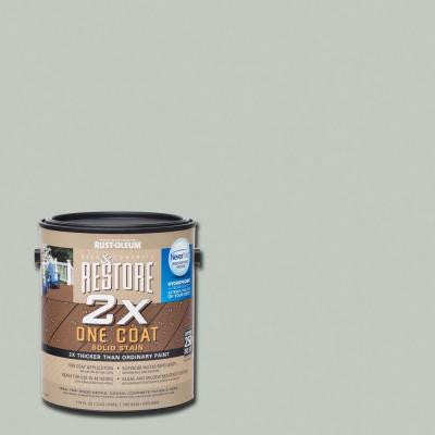 1 gal. 2X Graywash Solid Deck Stain with NeverWet