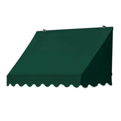 4 ft. Traditional Manually Retractable Awning (Projection 26.5 in.) in Forest Green